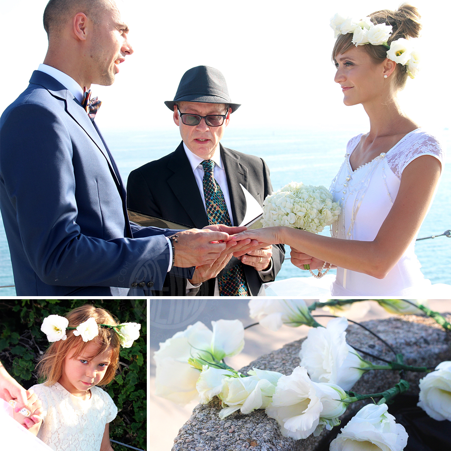 Beach wedding secret agent josephine