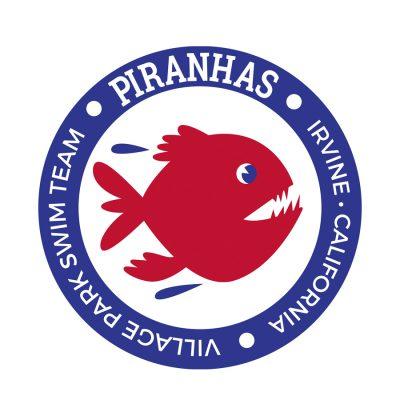 Piranhas Swim Team logo and signage